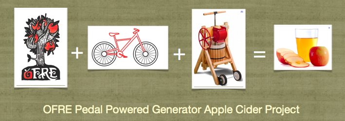 OFRE Pedal Powered Generator Apple Cider Project